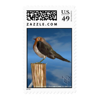 HYPER BIRDS / ROBIN RED BREAST POSTAGE STAMPS