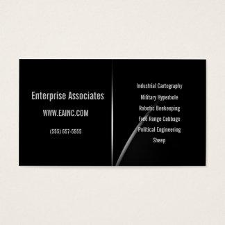 Hyper Black Collection: Horizon Arc Business Card