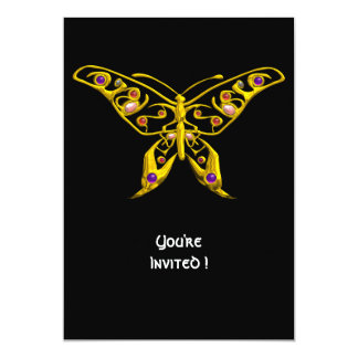 HYPER BUTTERFLY ,black 5x7 Paper Invitation Card