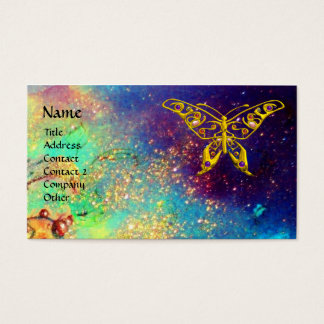 HYPER BUTTERFLY IN GOLD SPARKLES BUSINESS CARD