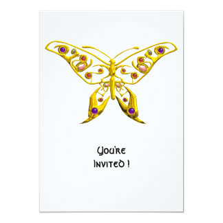 HYPER BUTTERFLY 5X7 PAPER INVITATION CARD