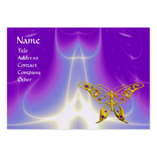HYPER BUTTERFLY / LIGHT WAVES, Pink,Purple,Violet Business Card