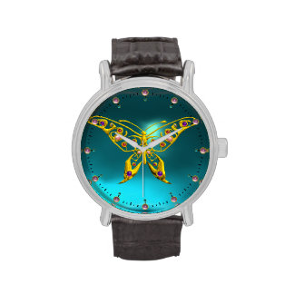 HYPER BUTTERFLY ,Teal Turquoise Blue Watches