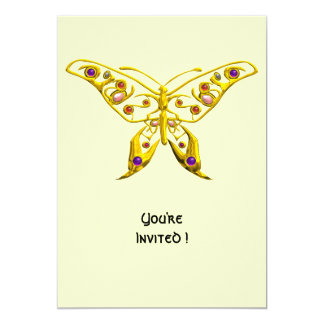 HYPER BUTTERFLY ,white 5x7 Paper Invitation Card