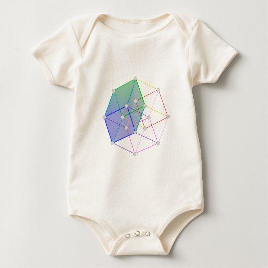 Hyper Cube 2 -- cool science in 4D! Baby Bodysuit