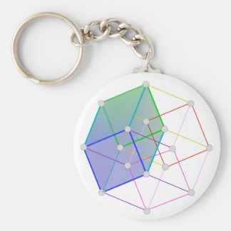 Hyper Cube 2 -- cool science in 4D! Keychain