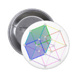 Hyper Cube 2 -- cool science in 4D! Pinback Button