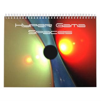 Hyper Gama Spaces Calendar