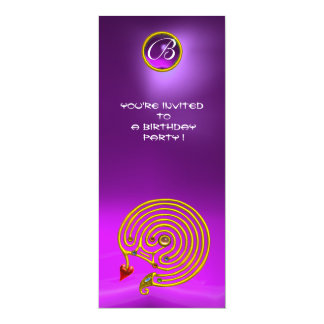HYPER LABYRINTH,Amethyst bright  violet purple red Card