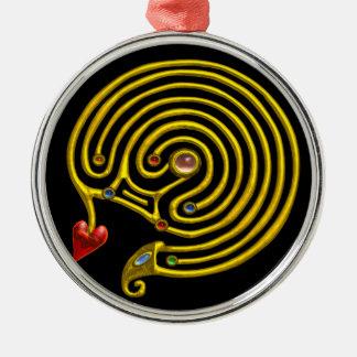 HYPER LABYRINTH black Metal Ornament