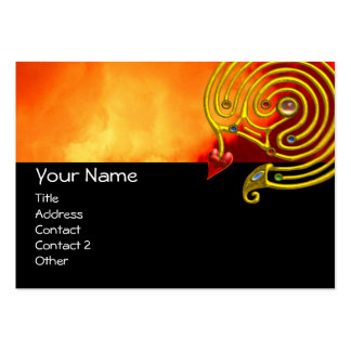 HYPER LABYRINTH ,black red yellow clouds Large Business Cards (Pack Of 100)