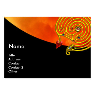 HYPER LABYRINTH , black red yellow clouds Large Business Cards (Pack Of 100)