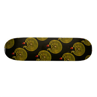 HYPER LABYRINTH, black Skateboard Deck