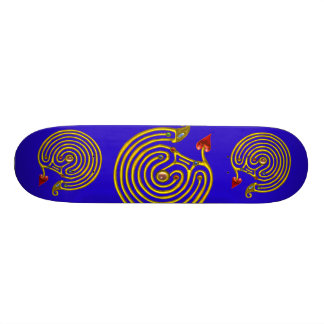 HYPER LABYRINTH, blue Custom Skateboard