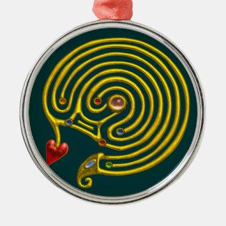 HYPER LABYRINTH green Metal Ornament