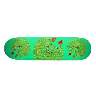 HYPER LABYRINTH, green Skateboard Deck