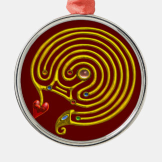 HYPER LABYRINTH red Metal Ornament