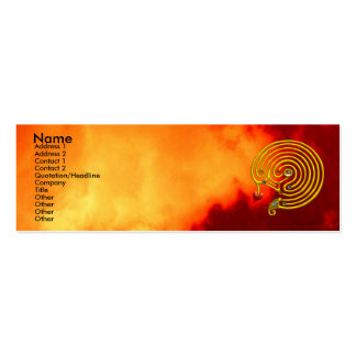 HYPER LABYRINTH ,red yellow clouds Double-Sided Mini Business Cards (Pack Of 20)