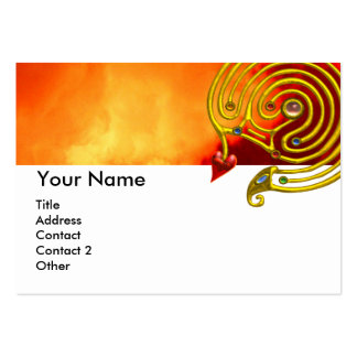 HYPER LABYRINTH ,red yellow clouds Large Business Cards (Pack Of 100)