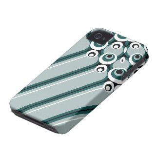 Hyper modern abstract design cyan iPhone 4 cases