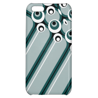 Hyper modern abstract design cyan iPhone 5C cases