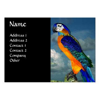 HYPER PARROTS / BLUE ARA LARGE BUSINESS CARDS (Pack OF 100)