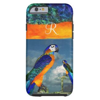 HYPER PARROTS /BLUE ARA MONOGRAM TOUGH iPhone 6 CASE
