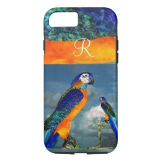HYPER PARROTS /BLUE ARA MONOGRAM iPhone 7 CASE