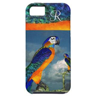 HYPER PARROTS /BLUE ARA MONOGRAM iPhone SE/5/5s CASE