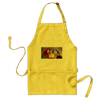 HYPER PARROTS /RED AND BLUE ARA ADULT APRON