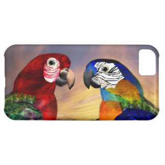 HYPER PARROTS /RED AND BLUE ARA iPhone 5C COVERS