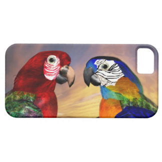 HYPER PARROTS /RED AND BLUE ARA iPhone 5 COVERS