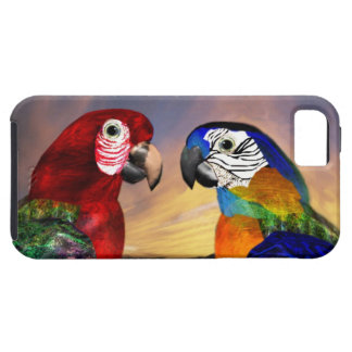HYPER PARROTS /RED AND BLUE ARA iPhone 5 CASE