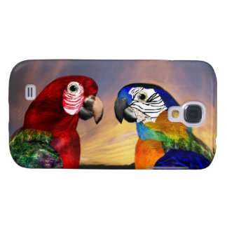 HYPER PARROTS /RED AND BLUE ARA SAMSUNG GALAXY S4 CASE