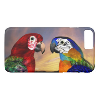 HYPER PARROTS /RED AND BLUE ARA iPhone 7 PLUS CASE