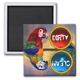 HYPER PARROTS RED AND BLUE ARA MAGNETS