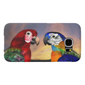 HYPER PARROTS /RED AND BLUE ARA SAMSUNG GALAXY S6 CASE