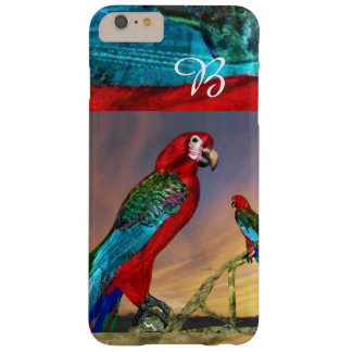 HYPER PARROTS / RED ARA MONOGRAM BARELY THERE iPhone 6 PLUS CASE