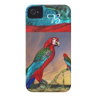 HYPER PARROTS / RED ARA MONOGRAM iPhone 4 CASE