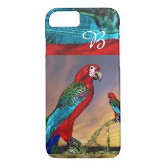 HYPER PARROTS / RED ARA MONOGRAM iPhone 7 CASE