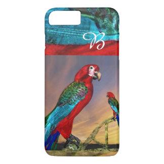 HYPER PARROTS / RED ARA MONOGRAM iPhone 7 PLUS CASE