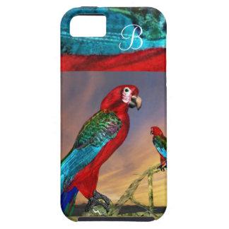 HYPER PARROTS / RED ARA MONOGRAM iPhone SE/5/5s CASE