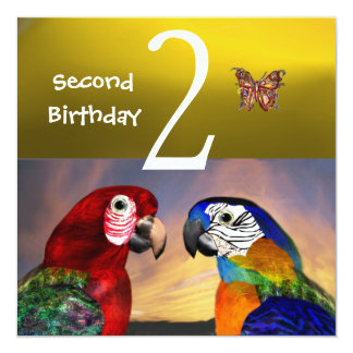 HYPER PARROTS / Second Birthday Party, Yellow Card