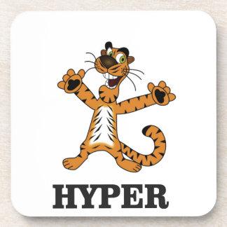 hyper tiger cat drink coaster