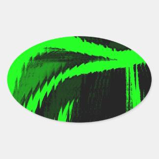 hyper twisted oval sticker