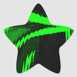 hyper twisted star sticker
