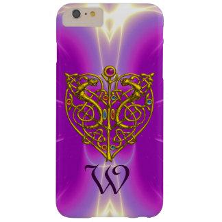HYPER VALENTINE MONOGRAM  Pink Fuchsia Purple Barely There iPhone 6 Plus Case