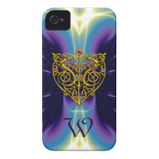 HYPER VALENTINE MONOGRAM  Pink Fuchsia Purple iPhone 4 Cover