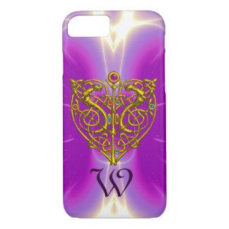 HYPER VALENTINE MONOGRAM  Pink Fuchsia Purple iPhone 7 Case
