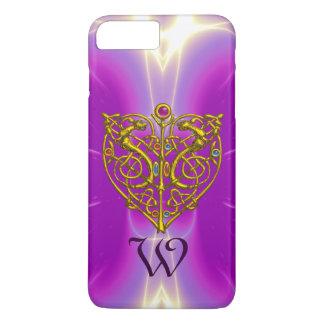 HYPER VALENTINE MONOGRAM  Pink Fuchsia Purple iPhone 7 Plus Case